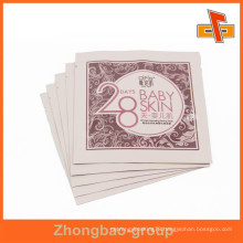 Wholesale laminated plastic side sealing bag for pink facial mask packaging