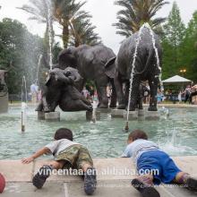 Hochwertige Outdoor-Dekoration antike Bronze stehend Elefanten Skulptur