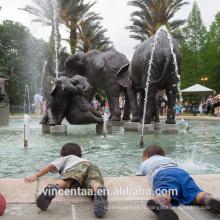 Haute qualité en plein air décoration bronze antique éléphant sculpture