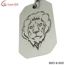 Fashion Alloy Antique Lions Dog Tag (LM1600)