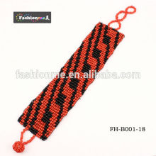 free shipping 3cm width adjustable seed bead bracelets