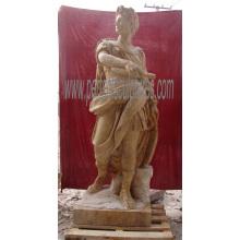 Резная античная скульптура мраморной скульптуры высекая каменную статую для украшения сада (SY-X1165)