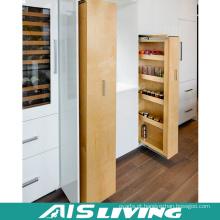 Mobília lustrosa européia do armário de cozinha do revestimento da melamina do armário de armazenamento (AIS-K986)