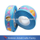 wholesale custom new design printed cute cartoon grosgrain ribbon