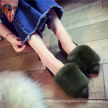 Chinese factory cheap wholesale women and animal sex photo fur sneakers 2017 arrivals