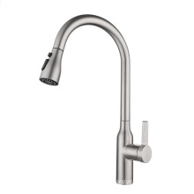 YL90012 Portable long spout head sink tap, single handle sink mixer, pull out 304 stainless steel kitchen faucet