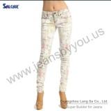 Wholesale Japan Jeans Women Floral Print STRETCH SKINNY JEANS