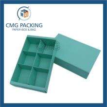 Тиффани синий печати бумажный разделитель карты Macaron Box (CMG-пирог окно-014)
