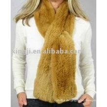 Top Qualität Strick Rex Kaninchen Pelz Schal