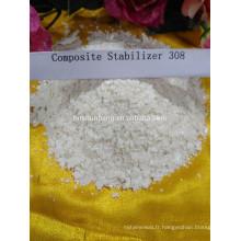 Stabilisateur chimique composition de stabilisateur de tuyau de PVC pour les tuyaux de PVC Fabrication de plomb de stabilisateur complexe en Chine 308