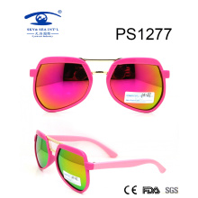 Wholesale Special Frame Colorful Children Plastic Sunglasses (PS1277)