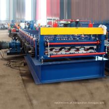 Painel de caminhão de carga painel de chapas de aço painel de carro caminhão de metal rolo de telhado dá forma à máquina