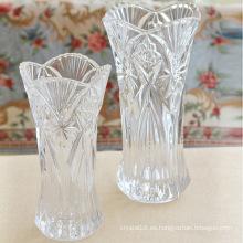 Inicio Decoración de la boda Florero de cristal alto europeo florero de cristal del estilo floral
