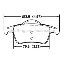 D795 272399 for VOLVO brake pad of rear