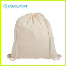 Custom Made Novo Design Eco Mochila de Algodão Drawstring Bag