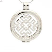 Support de pendentif pièce de monnaie en acier inoxydable bon marché, titulaire de pendentif pièce avec disque
