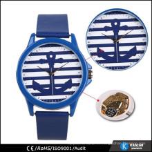 Reloj de ancla reloj de Ginebra reloj de correa de cuero genuino