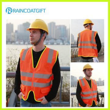 Hi Vis Reflective Safety Vest with Pocket and Zipper