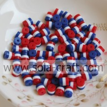 Wholesale White Blue Red Cylinder Resin Beads