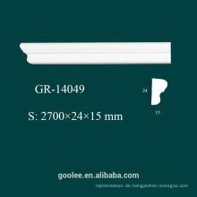 Fabrik Preis Umweltarchitektur Dekorative PU White Decke Molding