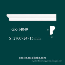 Factory Price Environmental Architectural Decorative PU White Ceiling Molding
