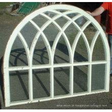 Wanjia alta qualidade material de alumínio arqueado janela