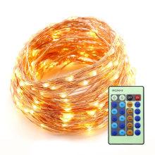 o controlador interno exterior do dmx conduziu a corda clara de cobre das luzes da corda