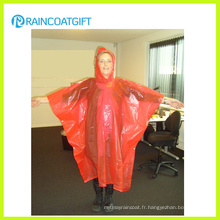 Poncho de pluie jetable Orange PE pour femme Rpe-161
