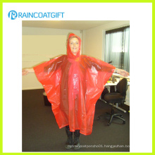 Women′s Orange PE Disposable Rain Poncho Rpe-161
