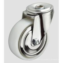 Roulette en nylon industriel de 5 pouces sans frein