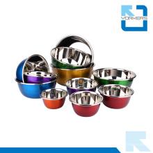 Presentes coloridos de aço inoxidável misturando tigela tigela salada tigela de sopa