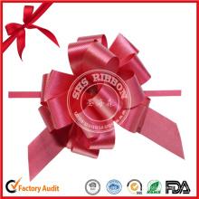 Grand ruban d'emballage de cadeaux d'arcs de traction pour la décoration de voiture de mariage