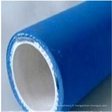 Tuyau de tuyau en caoutchouc à hautes températures renforcé par tissu pour l'huile chaude comestible