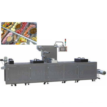 Dlz-520 Full Automatic Continuous Stretch Cooled Food Vacuum Packing Machine