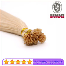 Salon Use I Tip Hair Extension Blond Color 613# 8-30inch Human Virgin Remy Hair Extension