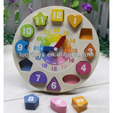 wooden clock education toy