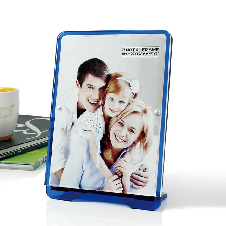 Cheap Blue Acrylic Desk Picture Frames Bulk