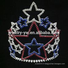 Femme de beauté strass Crystal Star tiaras couronnes