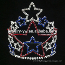 Beleza, menina, rhinestone, cristal, estrela, tiaras, coroas