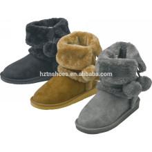 Warme Mädchen Stiefel Weihnachtsgeschenk Winter Schnee Stiefel mit Ball