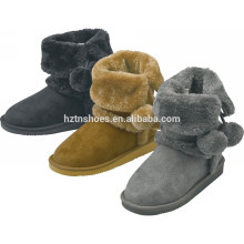 Warm girls boots christmas gift winter snow boots with ball