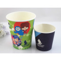 Disposable Coffee Paper Cup with Lids Single Wall From China