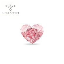 ForeverFlame fancy pink 6.5ct 12mm*10mm vvs Heart Cut diamond CVD CZ 18k  Moissanite Haute ring