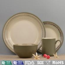 Conjunto de vajilla de cerámica de diseño personalizado