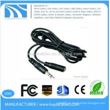 Enchufe estéreo de 3.5mm macho a hembra cable de audio1.5m
