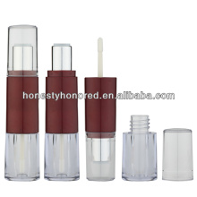 Cosmetic Double Lipstick Tube Withe Lipgloss Tube Packaging