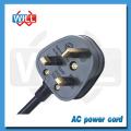 Venta al por mayor de fábrica Cable de alimentación de CA británico para ventilador eléctrico