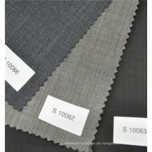 Tela anti-estática anti-estática 100% de lana de color negro para trajes de negocios