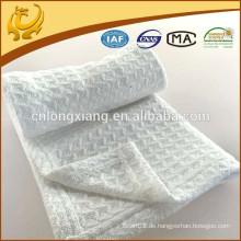 Neuer Entwurfs-Ebenen-Waben-Großverkauf-weißer organischer Baumwollschätzchen, der Decken empfängt