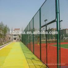 высокомарочной цепи ссылку сетки для спортивных забор / ПВХ покрытием загородки звена цепи обеспеченностью Гальванизированный звено цепи сетки